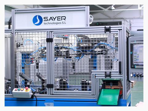 Máquina para control dimensional de horquilla de cambio automático para sector de Automoción