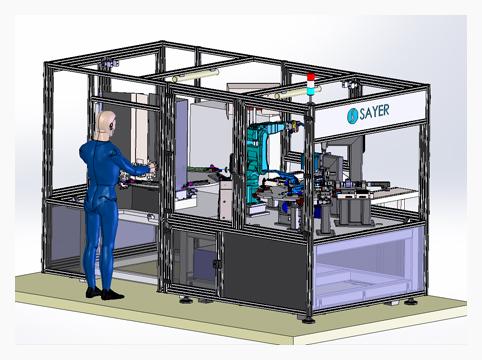 Máquina para fabricación de bisagras para sector de Automoción